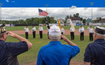 Saluting the colors at the tournament